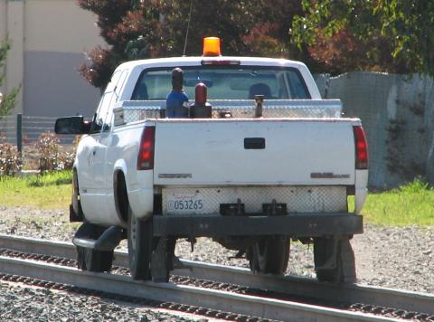 Caltrain utility truck